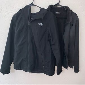 North Face Dryvent Jacket and Removable Fleece Set